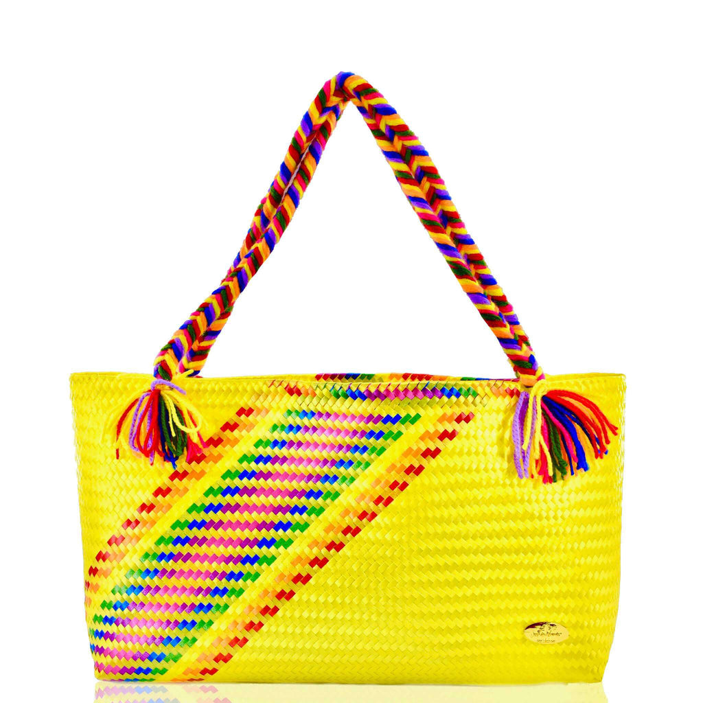 The Nicky Bag in Yellow Splash of Rainbow - Josephine Alexander Collective