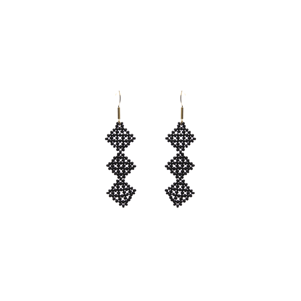 Tile Earrings in Black - Josephine Alexander Collective