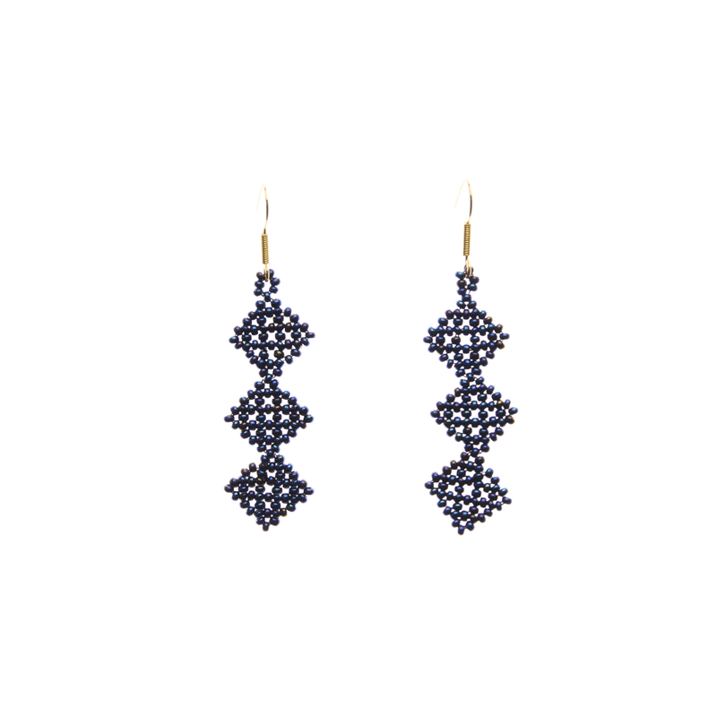 Tile Earrings in Blue - Josephine Alexander Collective