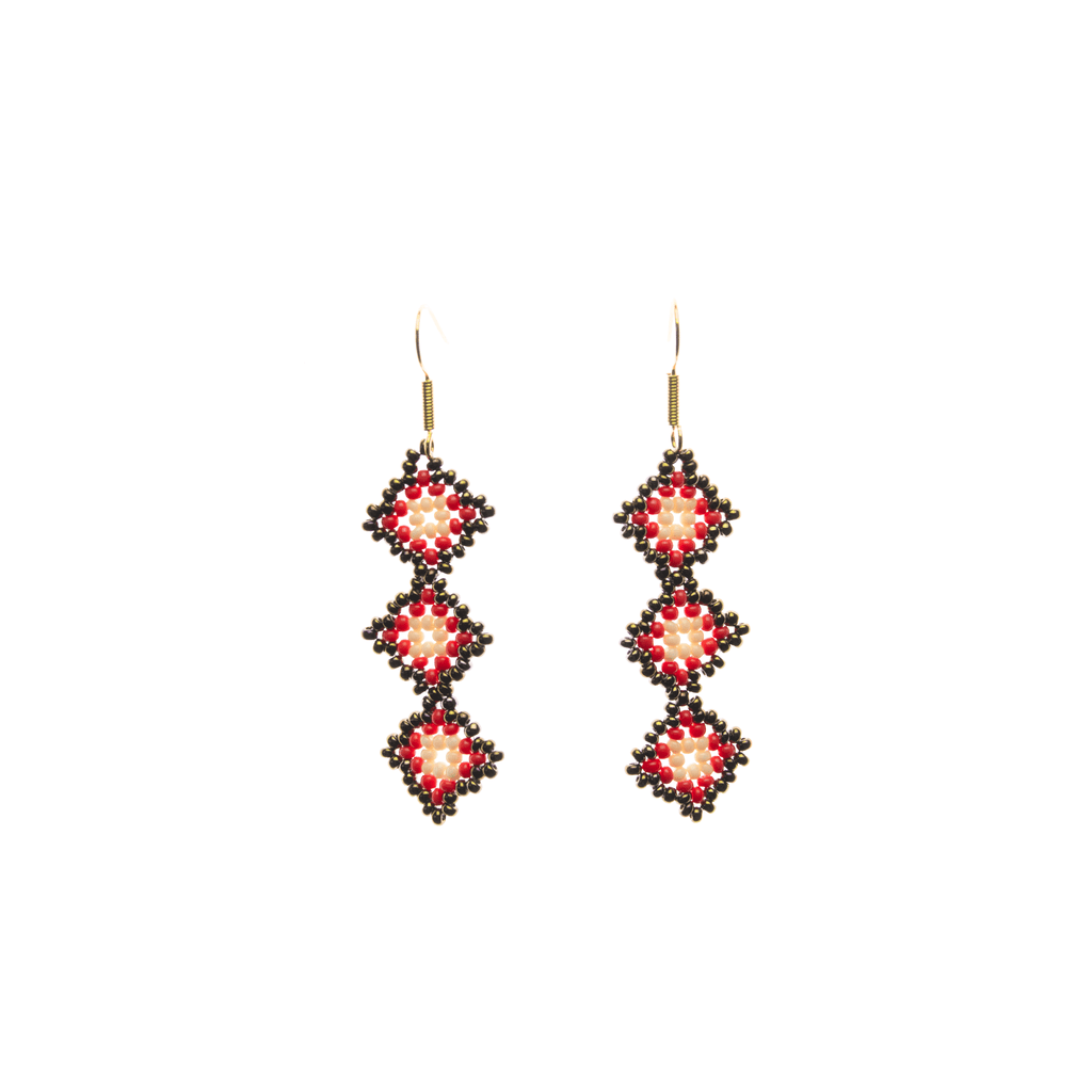 Tile Earrings in Red Cooper - Josephine Alexander Collective