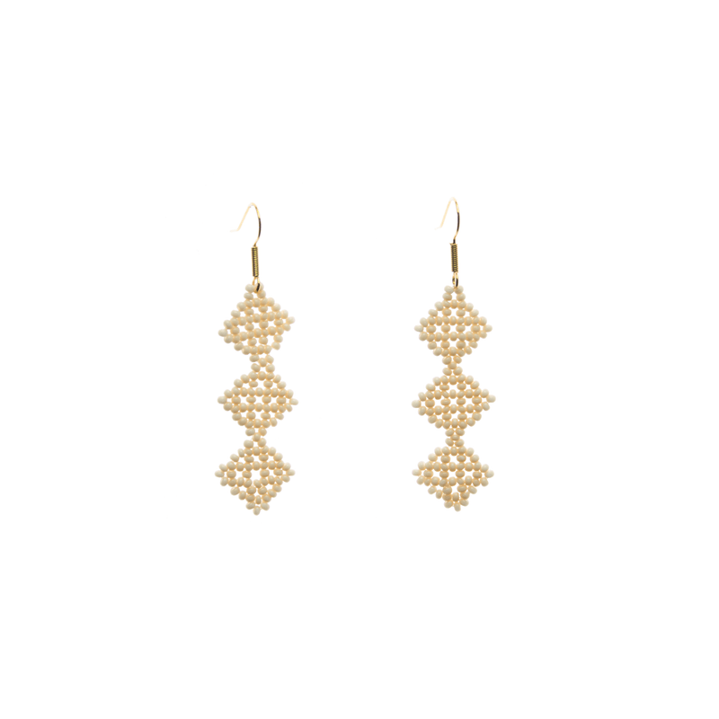 Tile Earrings in Ivory - Josephine Alexander Collective