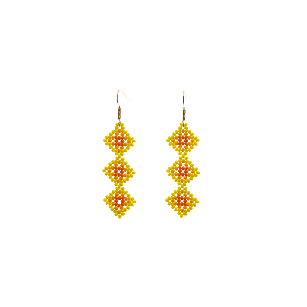 Tile Earrings in Yellow - Josephine Alexander Collective