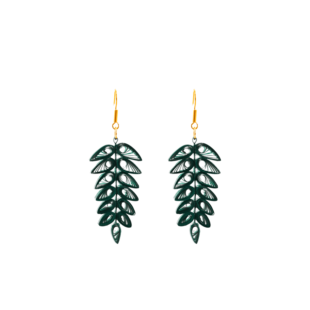 Tracy Tropical Frond Earrings