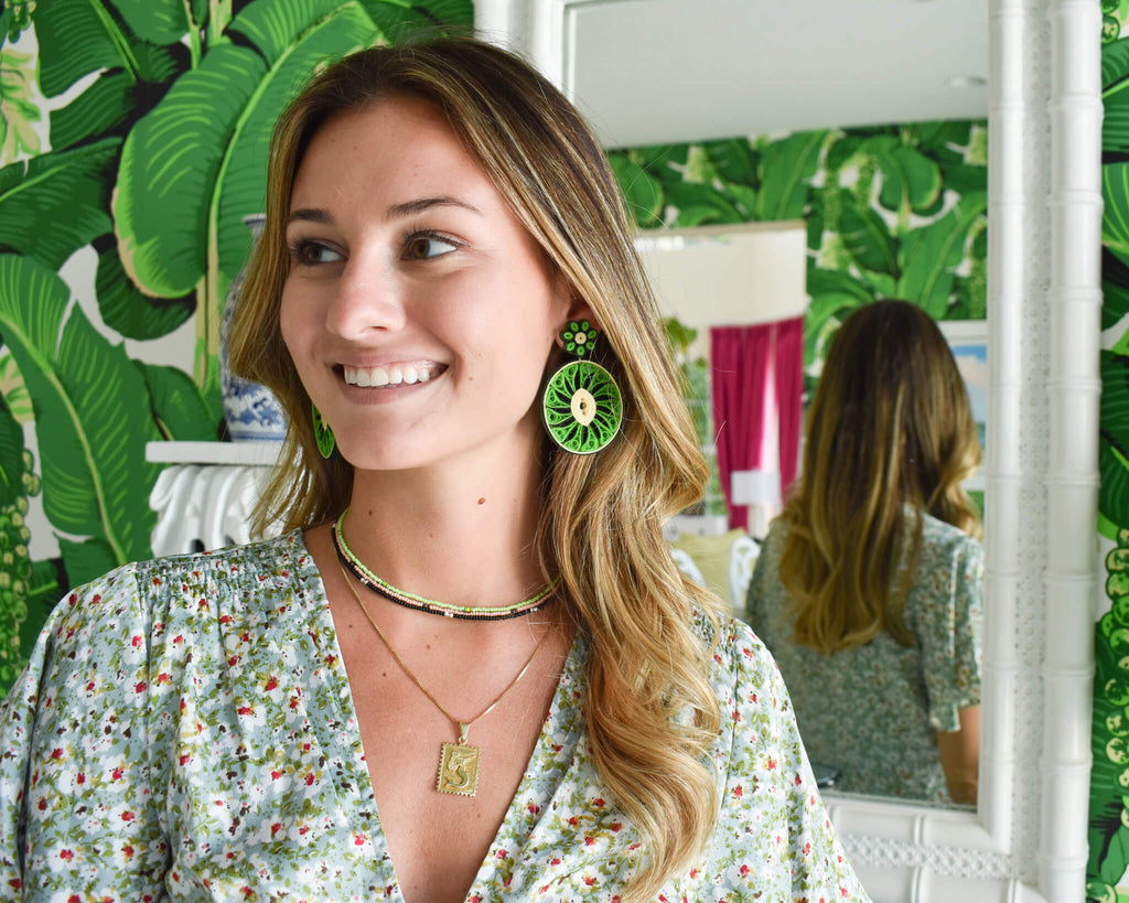 Sweet Kiwi Quilled Earrings - Josephine Alexander Collective