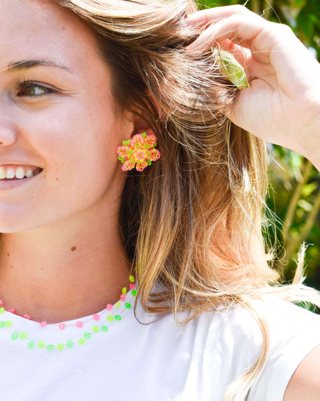 Wild Flower Earrings in Multi Neon - Josephine Alexander Collective