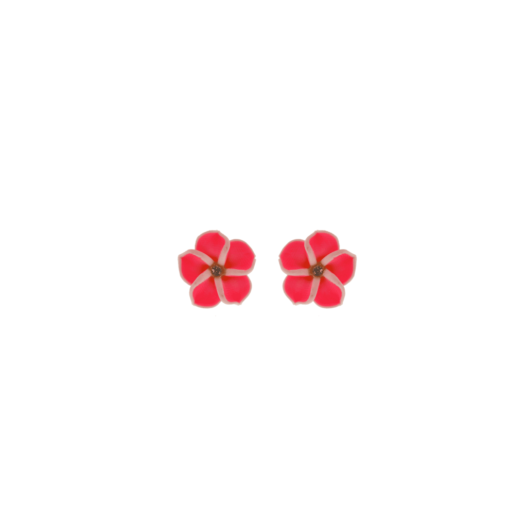 Pink Frangipani Earrings