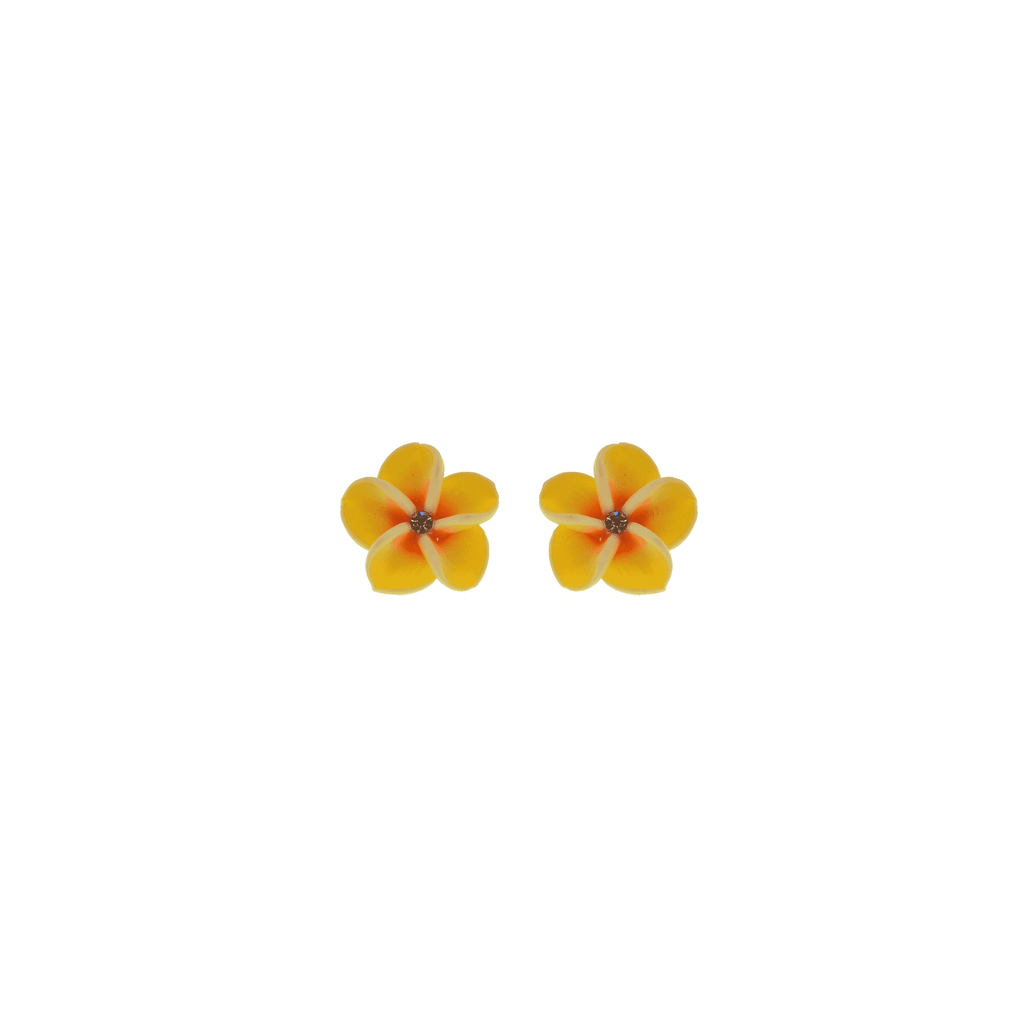Yellow Frangipani Earrings