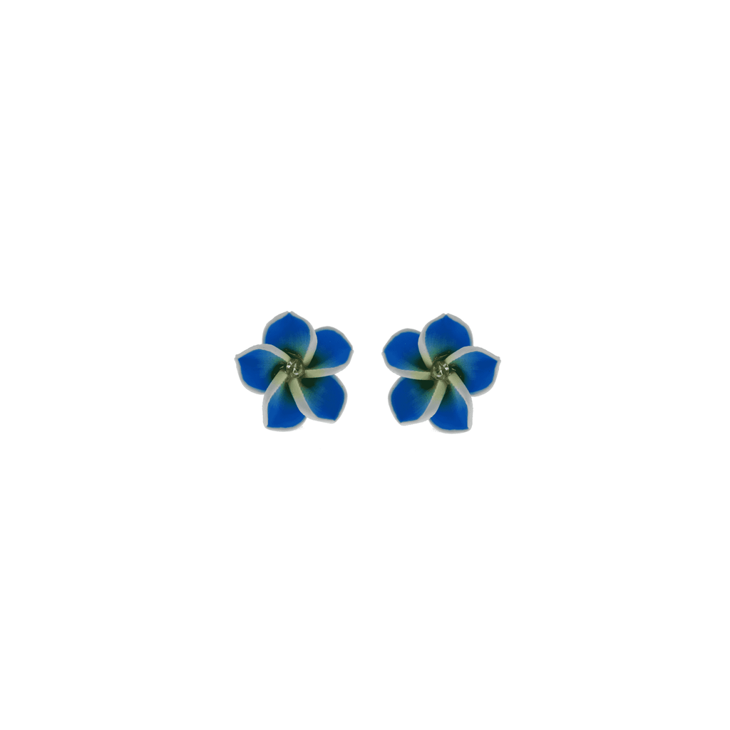 Blue Frangipani Earrings