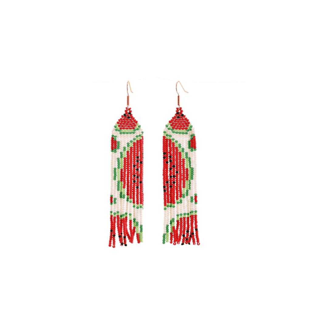 Juicy Watermelon Beaded Earrings - Josephine Alexander Collective