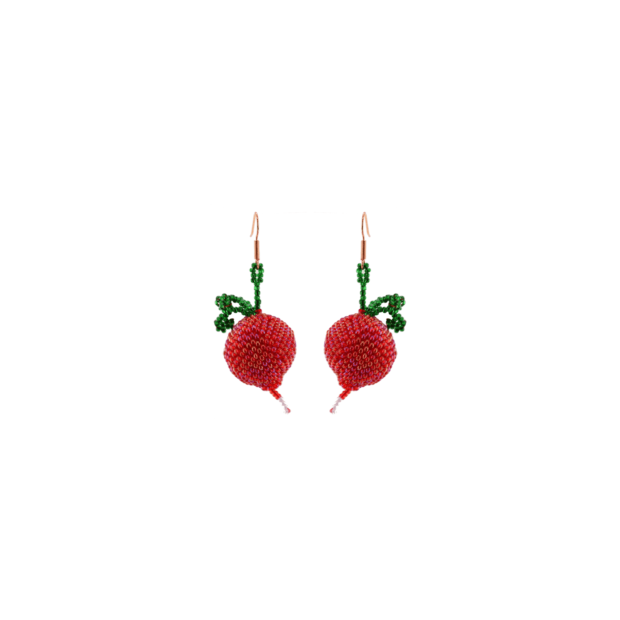 Click to shop - The Red Radish Beaded Earrings