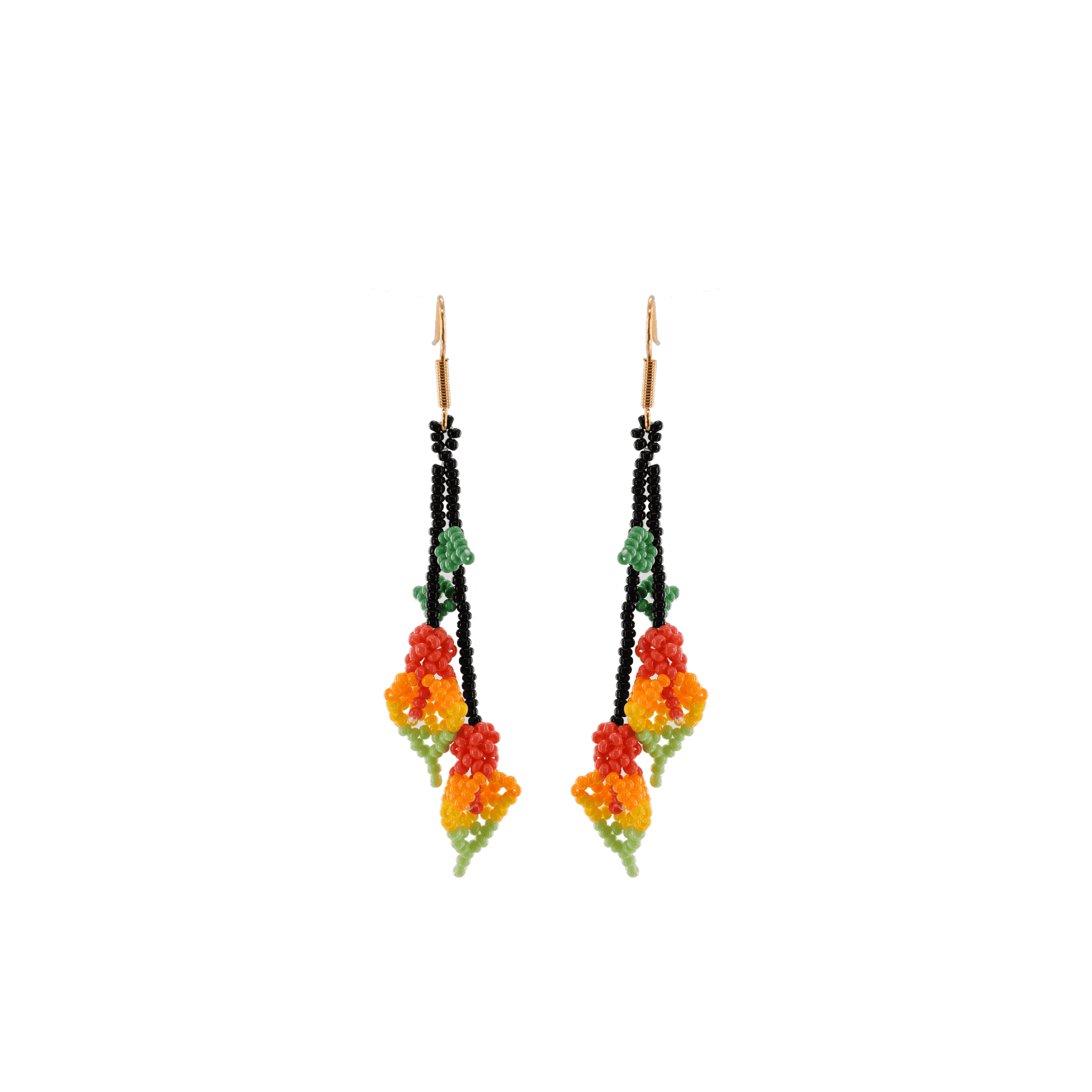 Click to shop - The Tropical Calla Lily Beaded Earrings