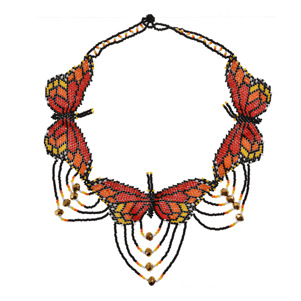 Monarch Butterfly Collar Necklace - Josephine Alexander Collective