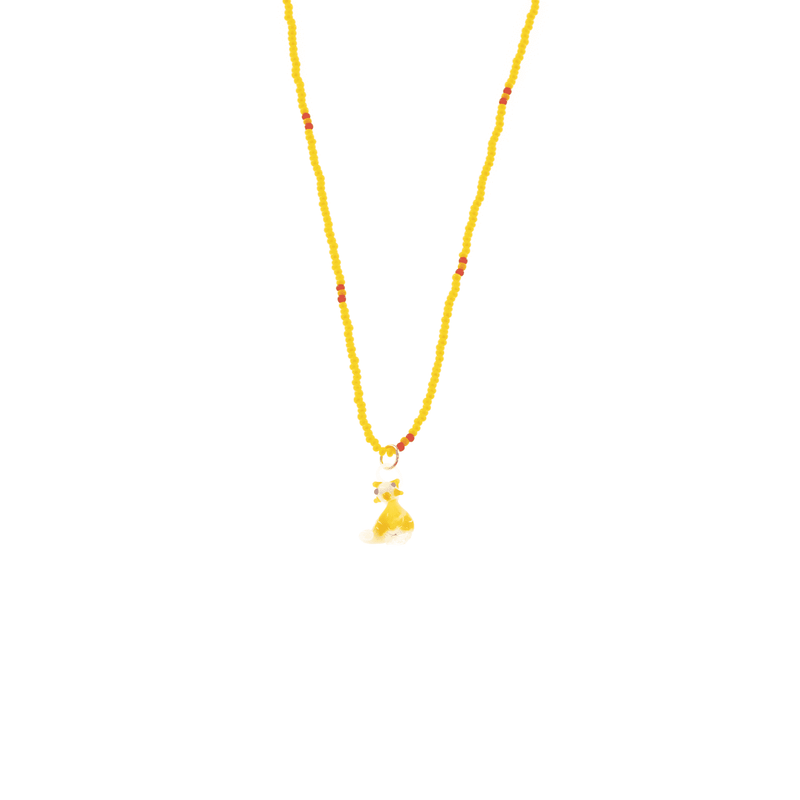 Glass Charm Yellow Cat Necklace - Josephine Alexander Collective