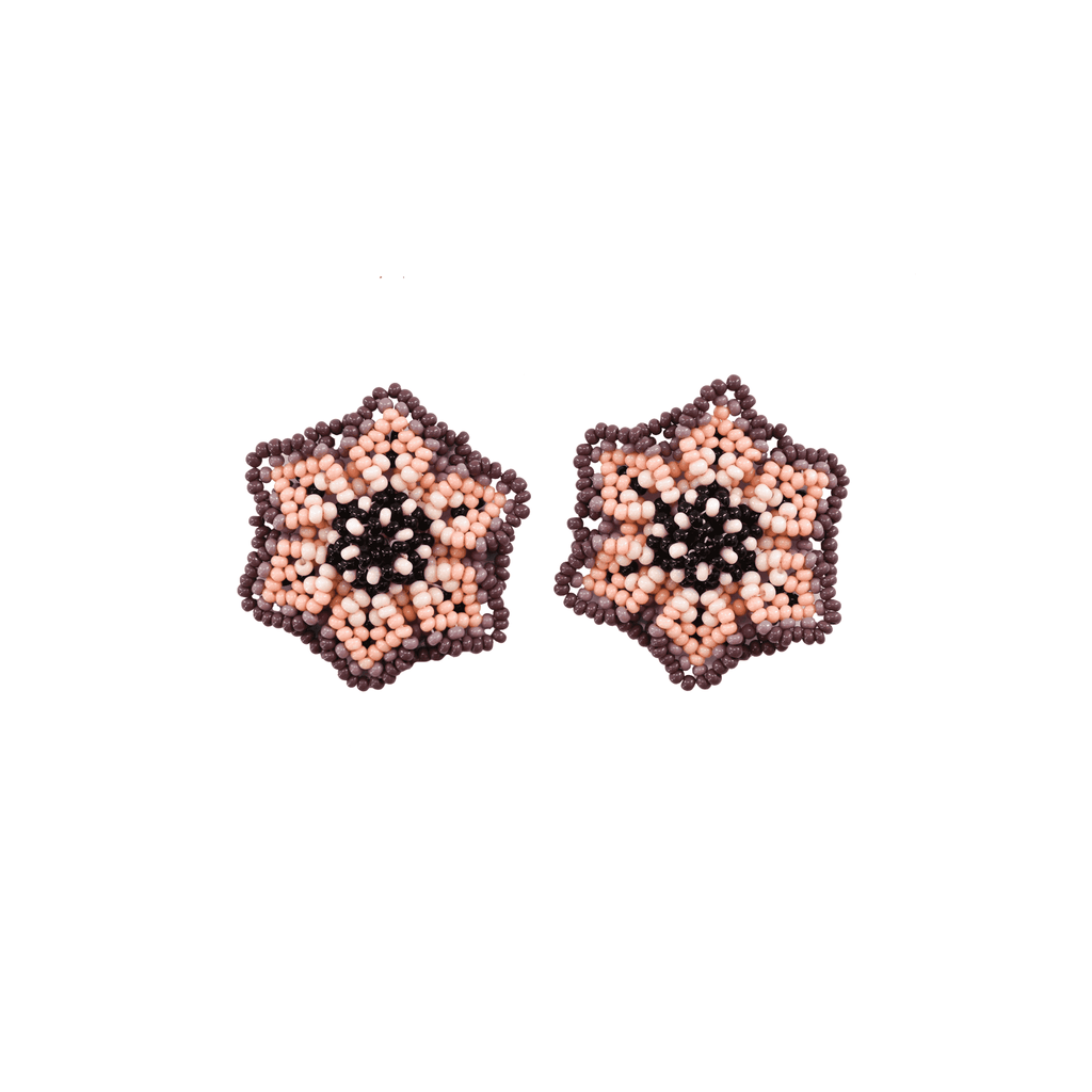 Wild Flower Earrings in Passionfruit