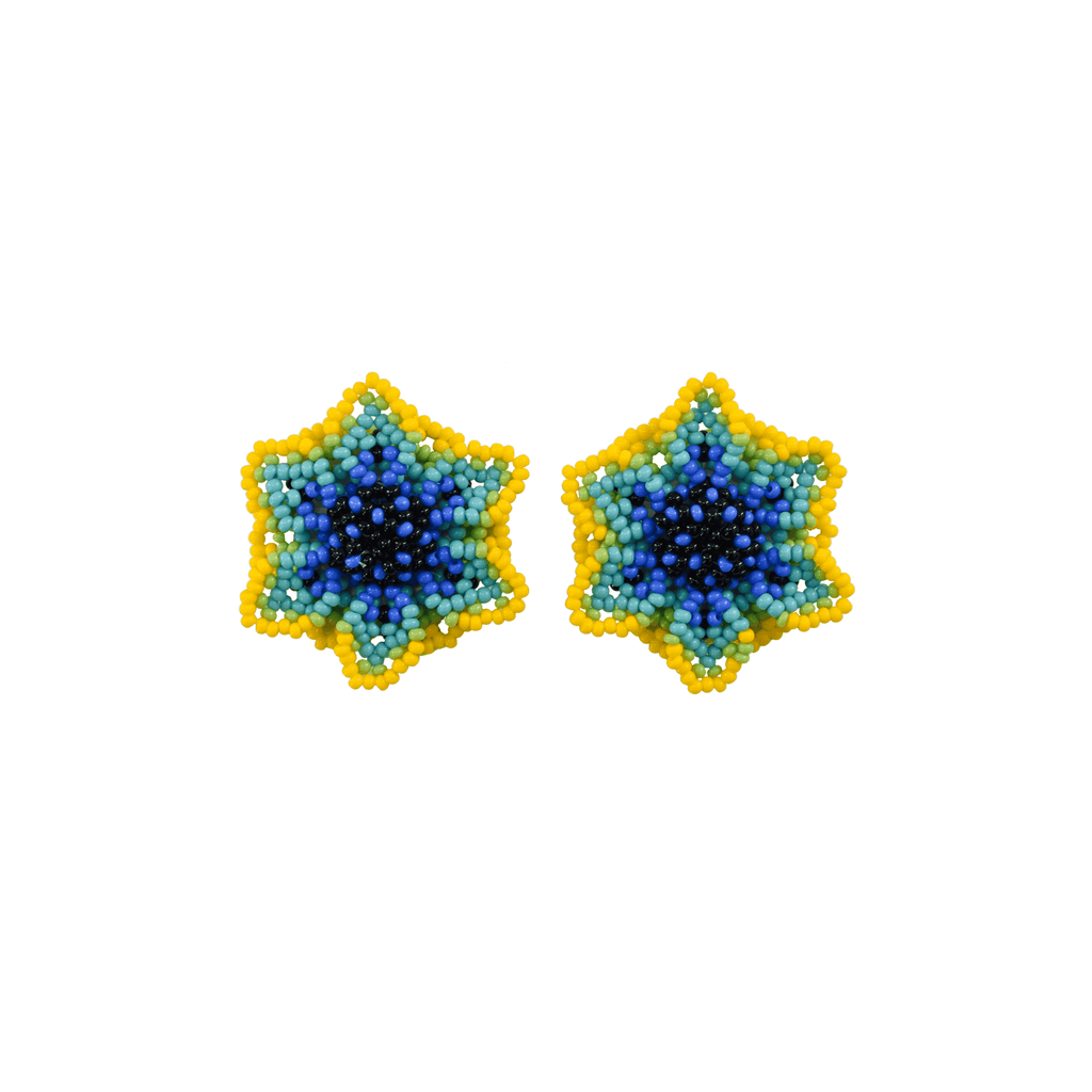 Wild Flower Earrings in Anenome - Josephine Alexander Collective
