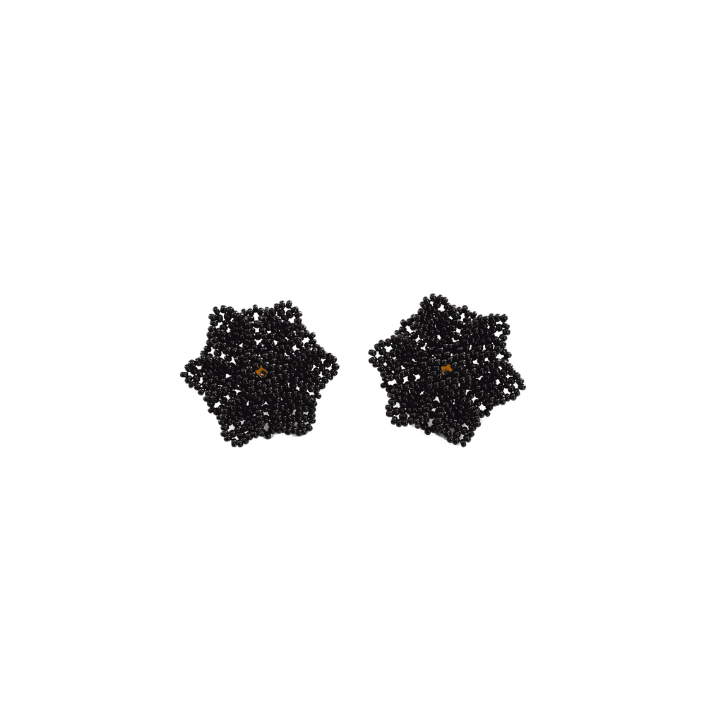 Wild Flower Earrings in Black