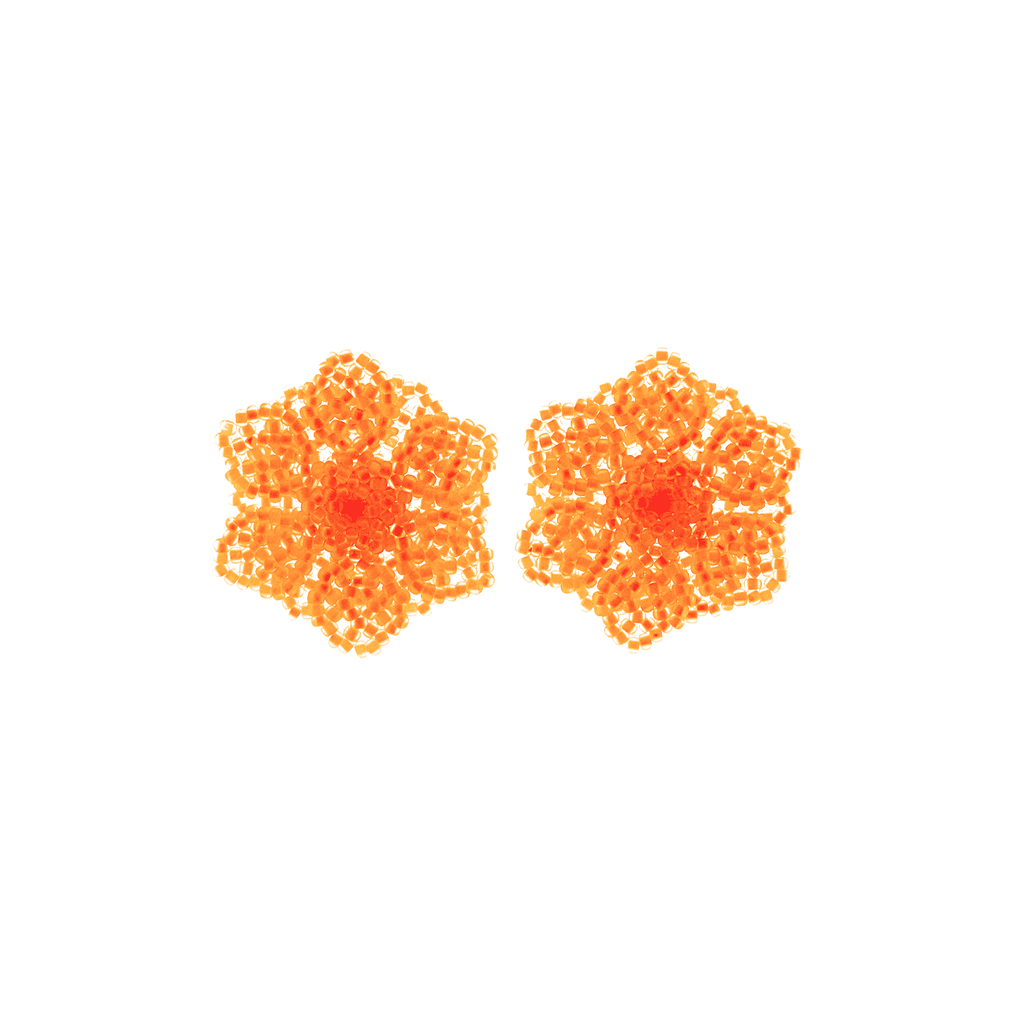 Wild Flower Earrings in Neon Orange