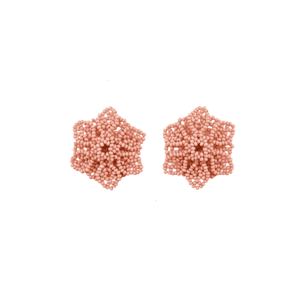 Wild Flower Earrings in Rose