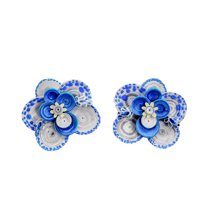 Wild Orchid Earrings in Blue - Josephine Alexander Collective