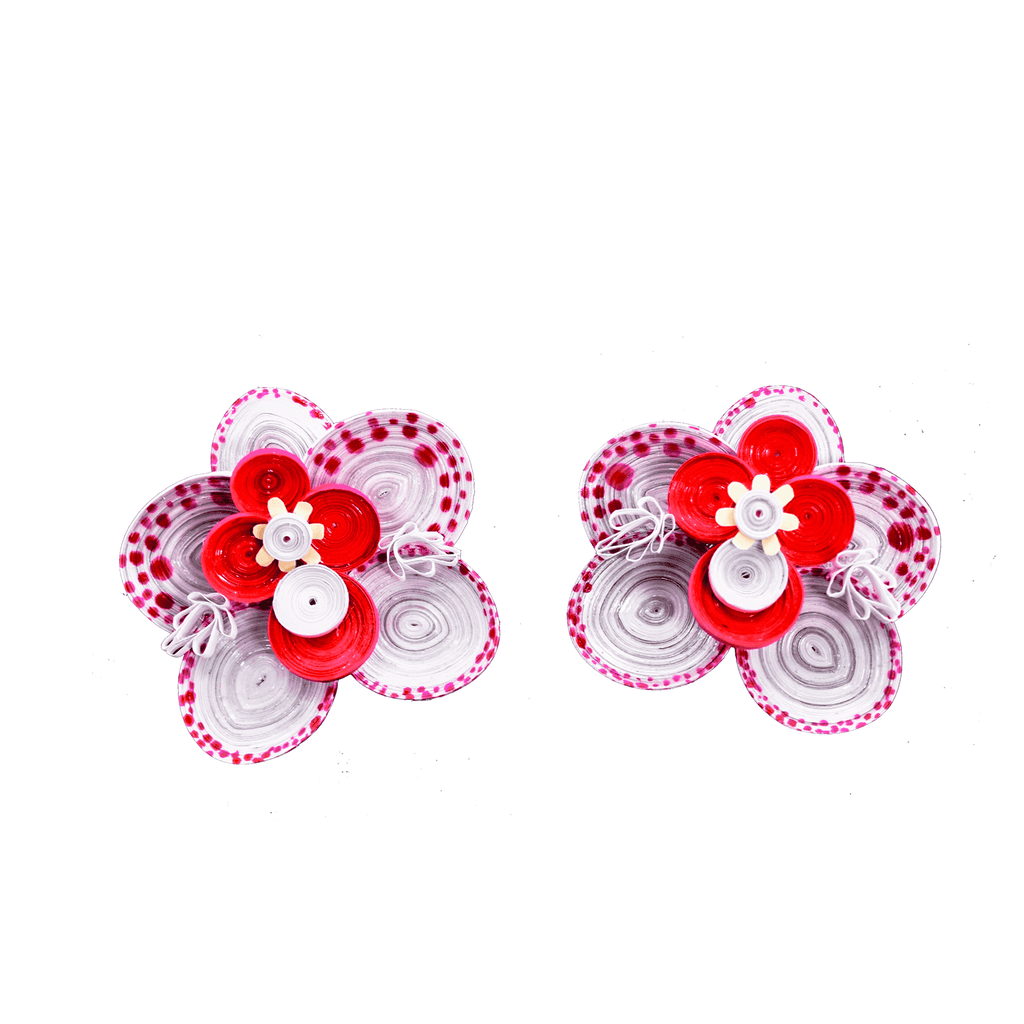 Wild Orchid Earrings in Pink - Josephine Alexander Collective