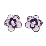 Wild Orchid Earrings in Purple - Josephine Alexander Collective