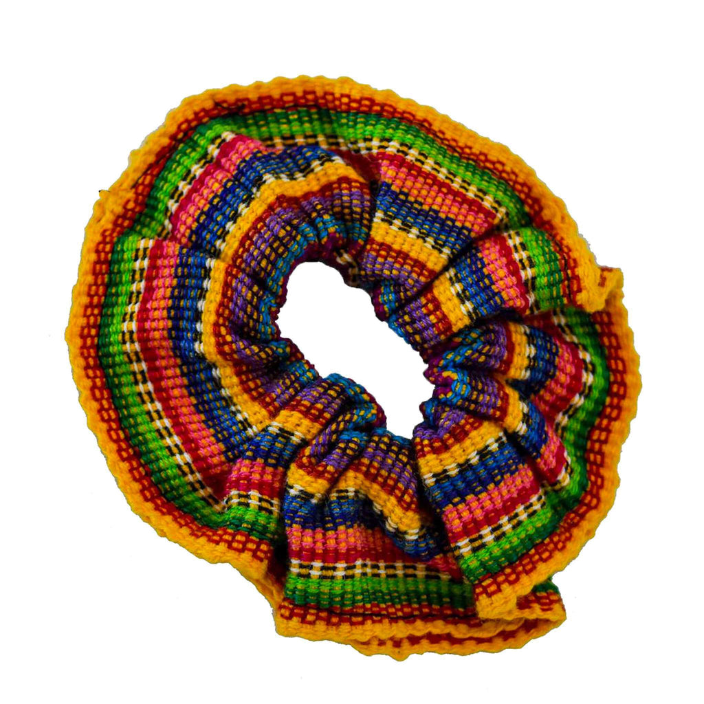 Woven Mexico Scrunchie in Mango