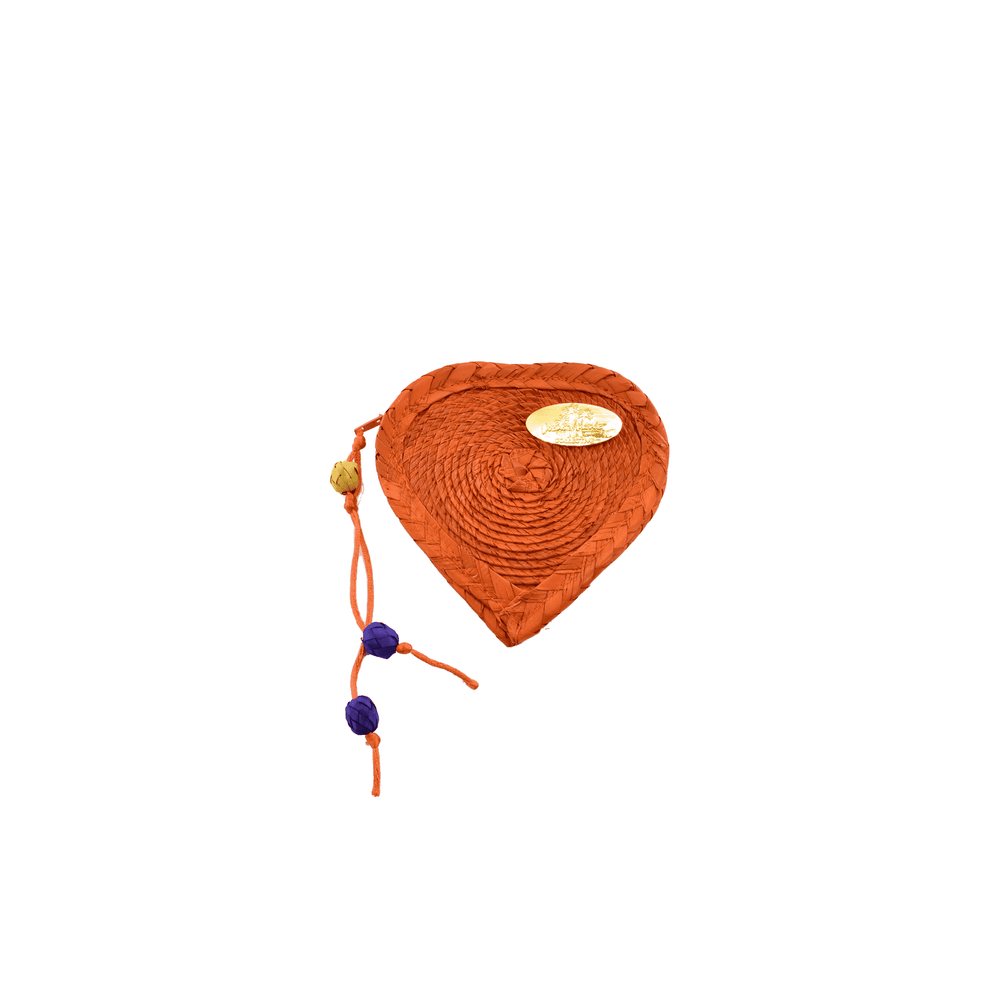 Young at Heart Coin Purse in Orange
