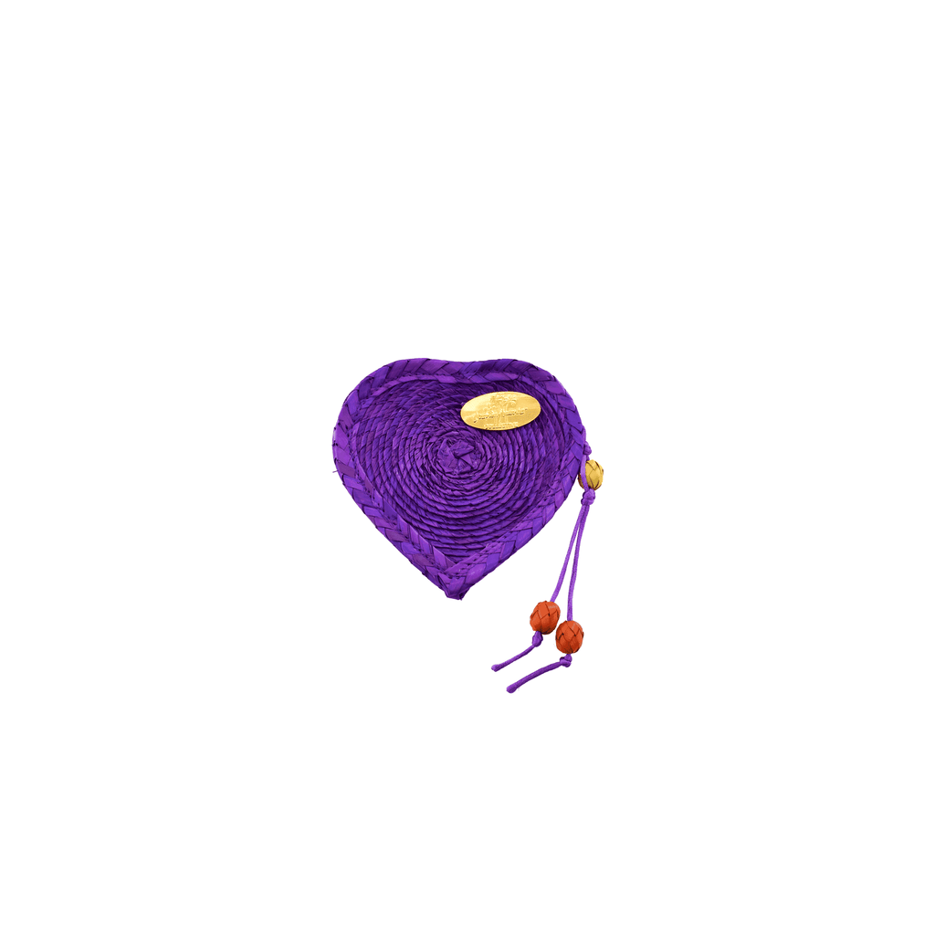 Love Heart Coin Purse in Purple