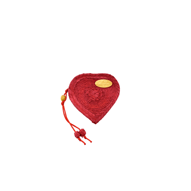 Love Heart Coin Purse in Red