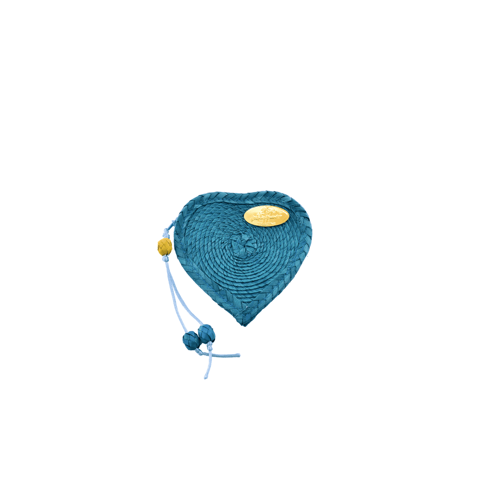 Love Heart Coin Purse in Turquoise