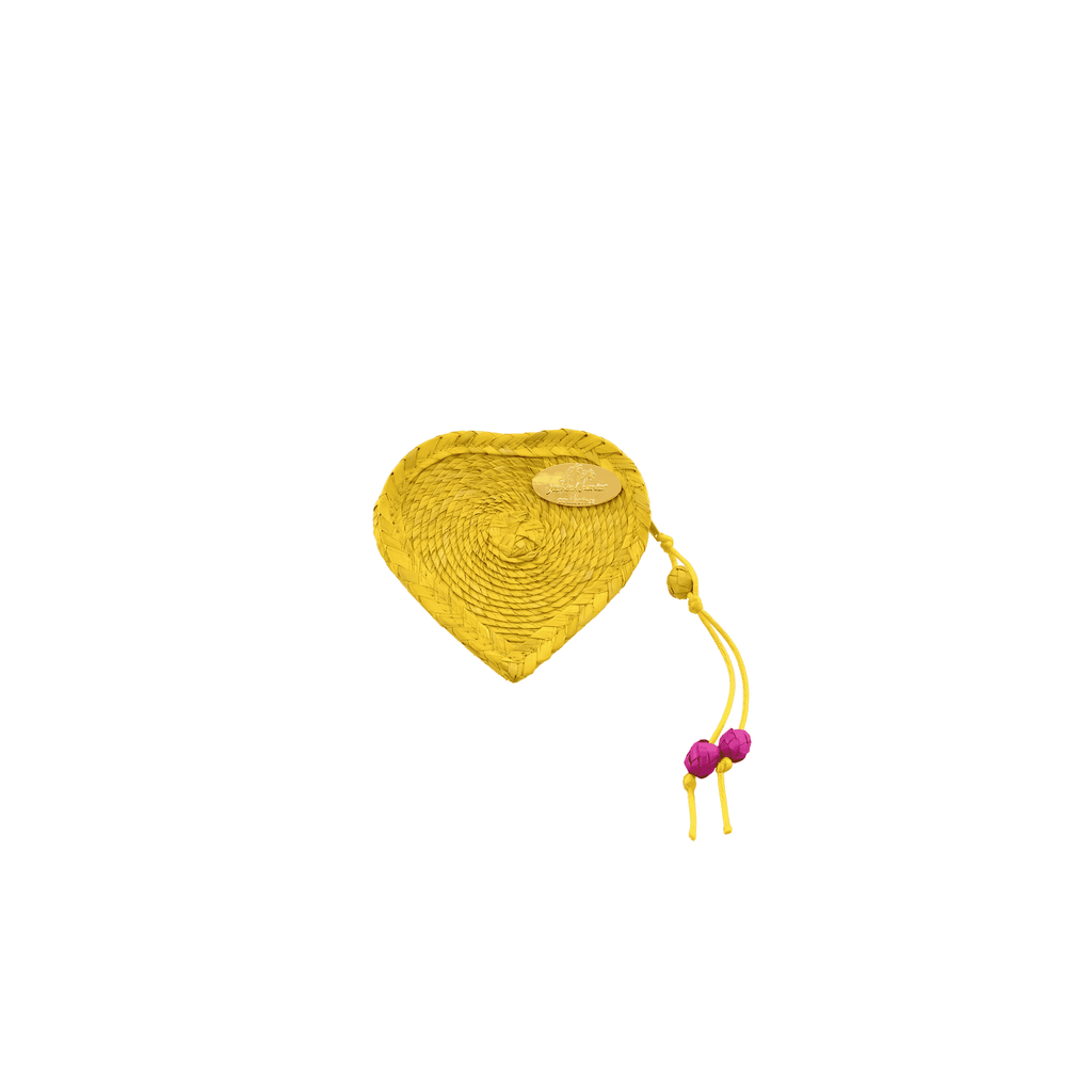 Love Heart Coin Purse in Yellow