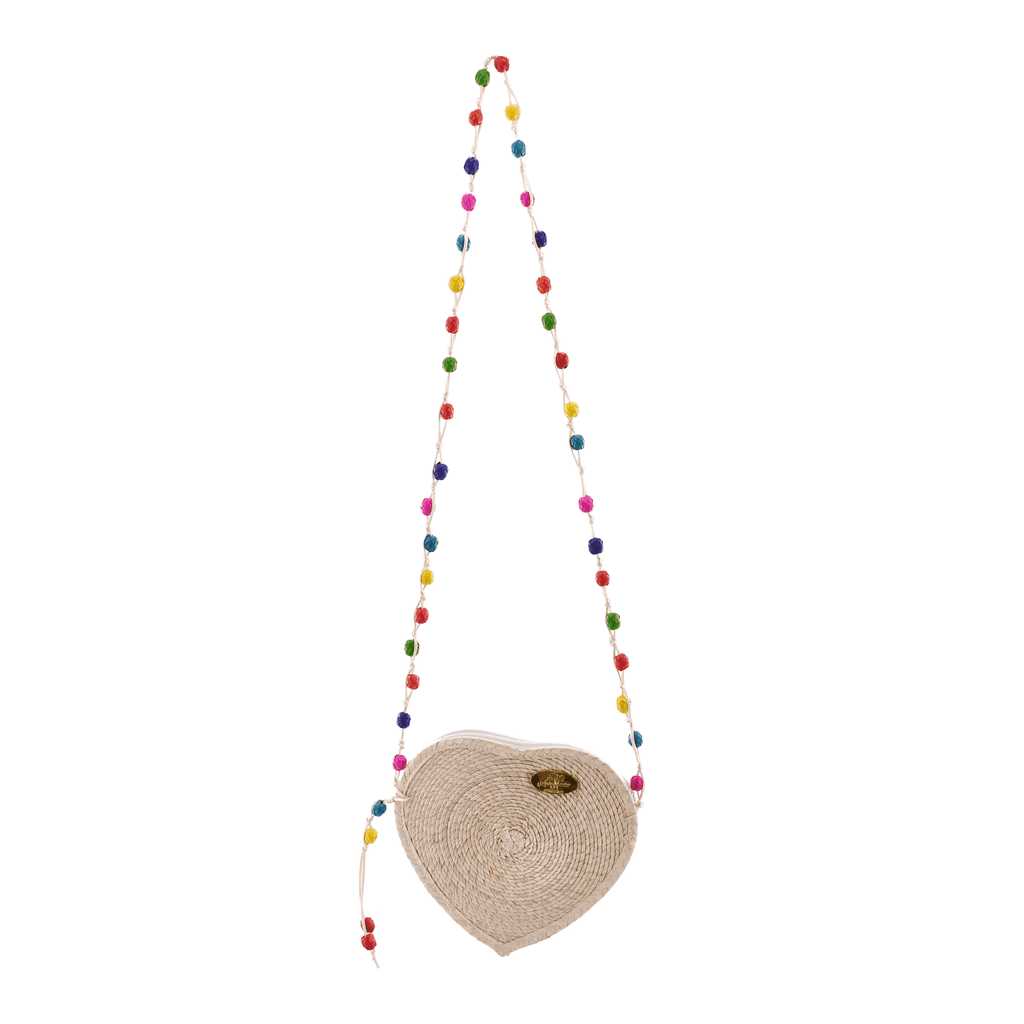 Love Heart Straw Crossbody in Natural
