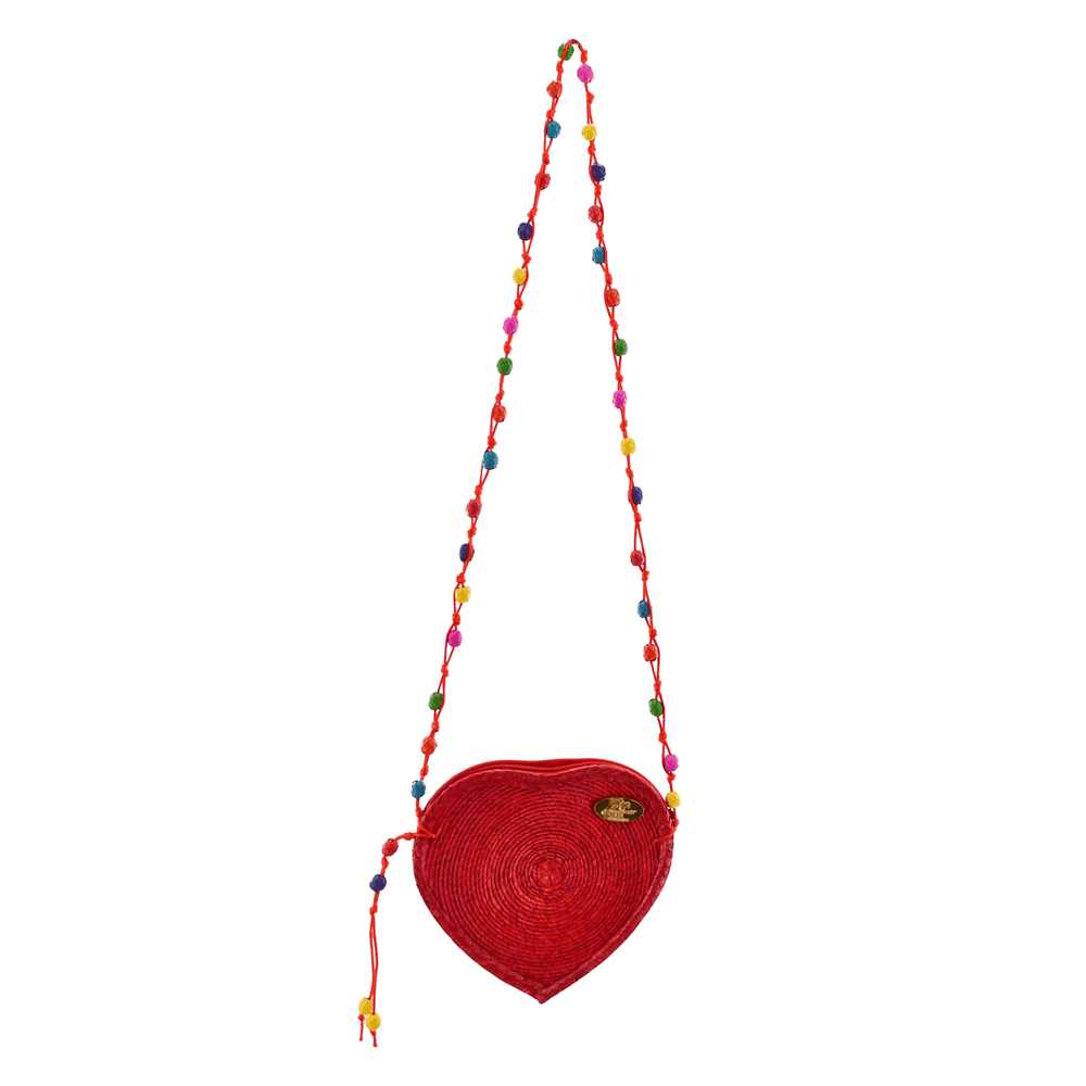 Young at Heart Straw Crossbody in Red
