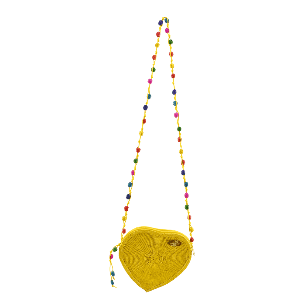 Young at Heart Straw Crossbody in Yellow