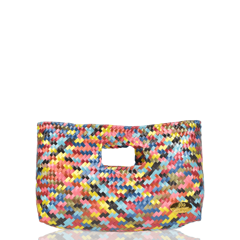 Alison Woven Clutch in Topaz Rainbow - Josephine Alexander Collective