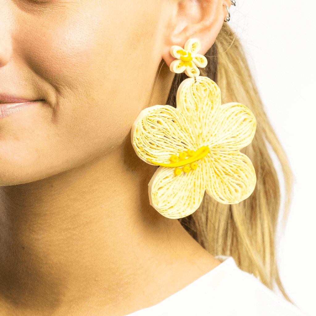 Aloha Earrings in Sand - Josephine Alexander Collective
