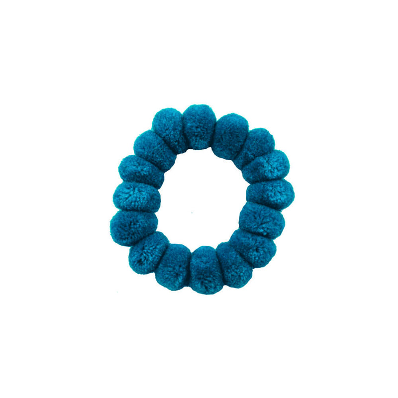Pom Scrunchie in Aqua - Josephine Alexander Collective