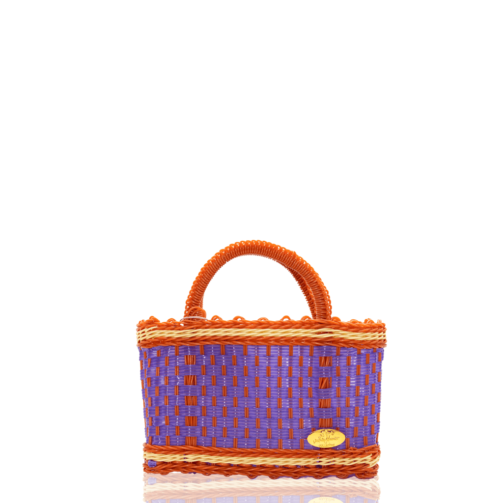 Jessica Basket Bag in Purple and Orange Yellow - Josephine Alexander Collective