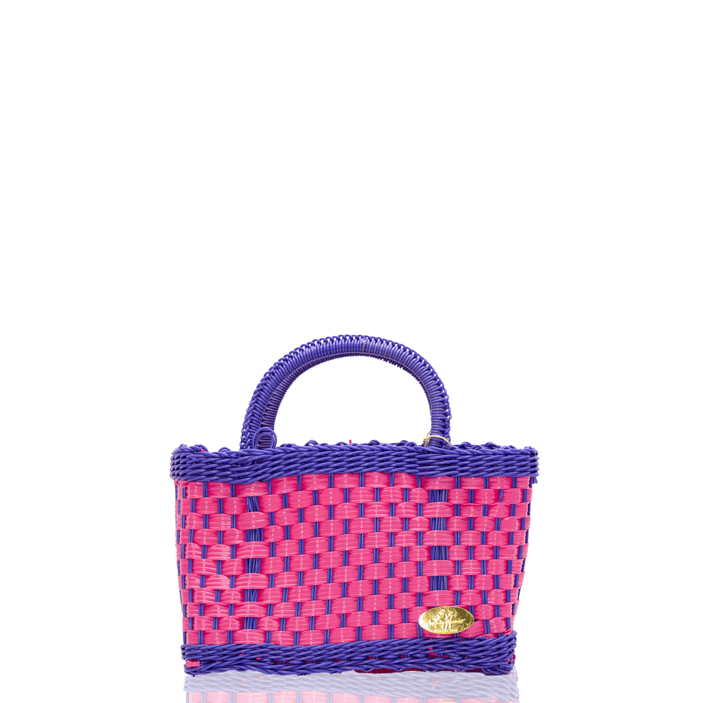 Jessica Basket Bag in Pink and Purple - Josephine Alexander Collective