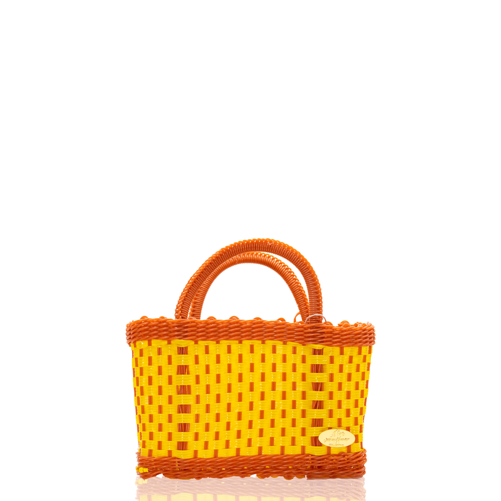 Jessica Basket Bag in Yellow and Orange - Josephine Alexander Collective
