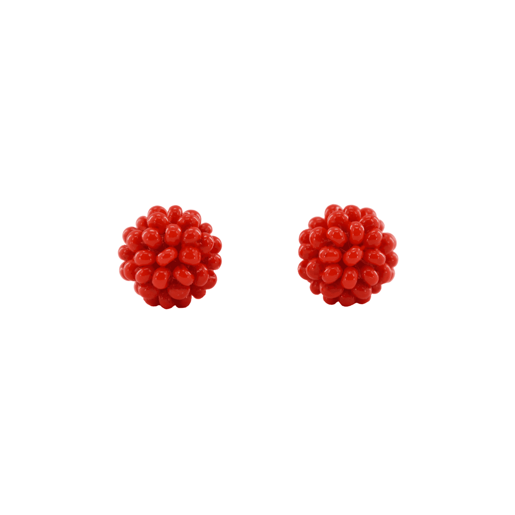 Ball Stud Earrings in Red - Josephine Alexander Collective