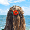 Beaded Barrette in Red Sunflower - Josephine Alexander Collective