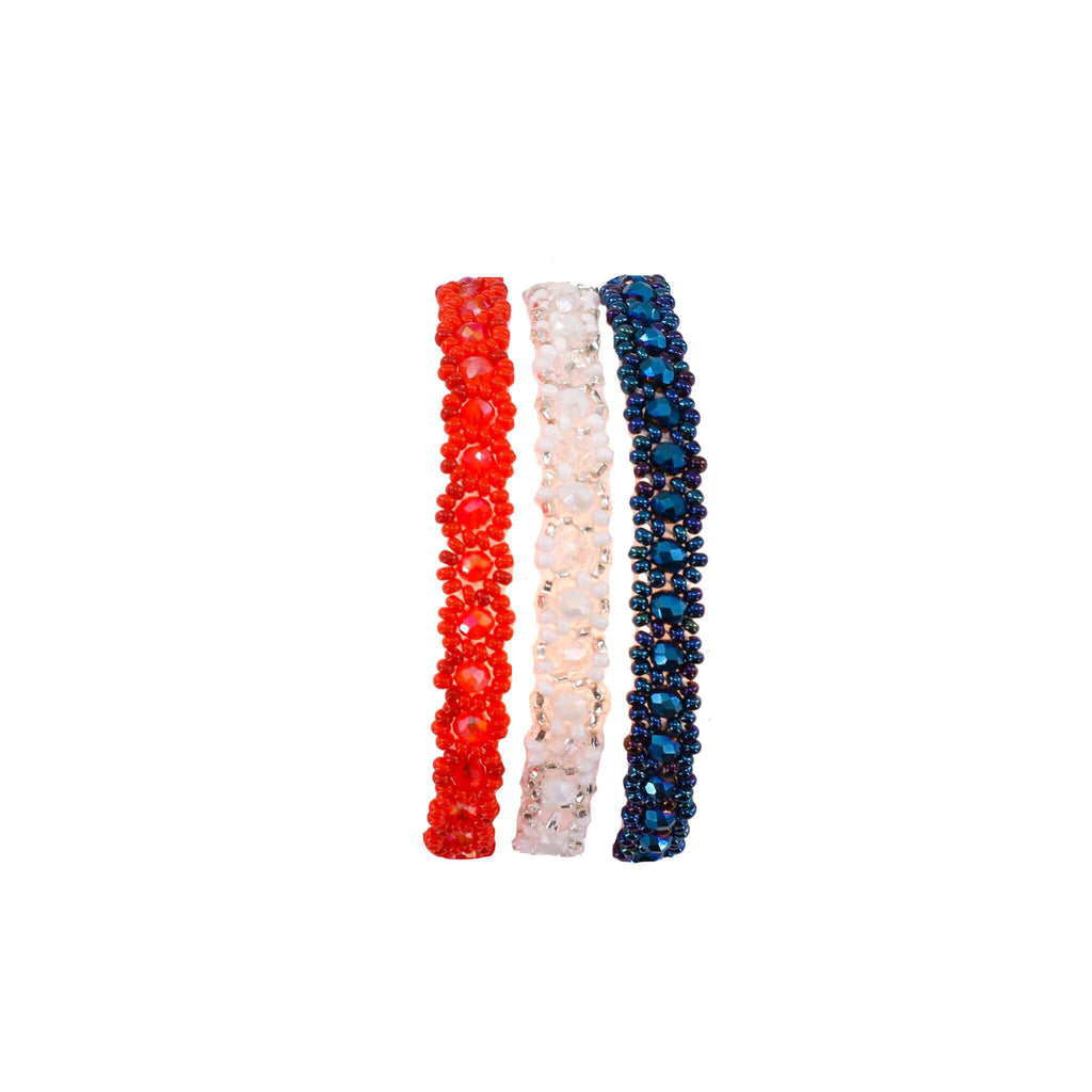 Star Spangled Beaded Bracelet Stack - Josephine Alexander Collective