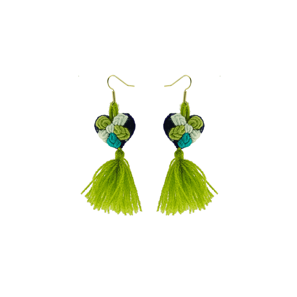 The Love-ly Earrings in Green Hibiscus- Small - Josephine Alexander Collective