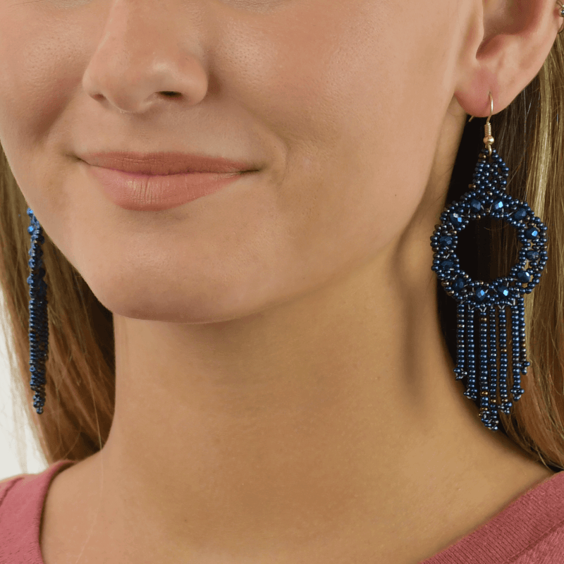 Dreamer Earrings in Midnight Sky - Josephine Alexander Collective