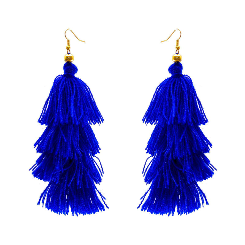 Four Tier Earrings in Marine - Josephine Alexander Collective
