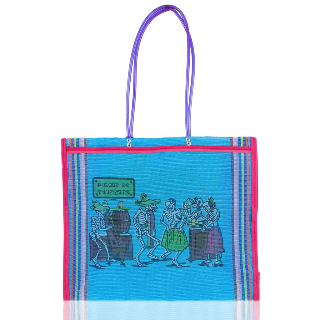 Dia de Muertos Market Bag in Sky Blue