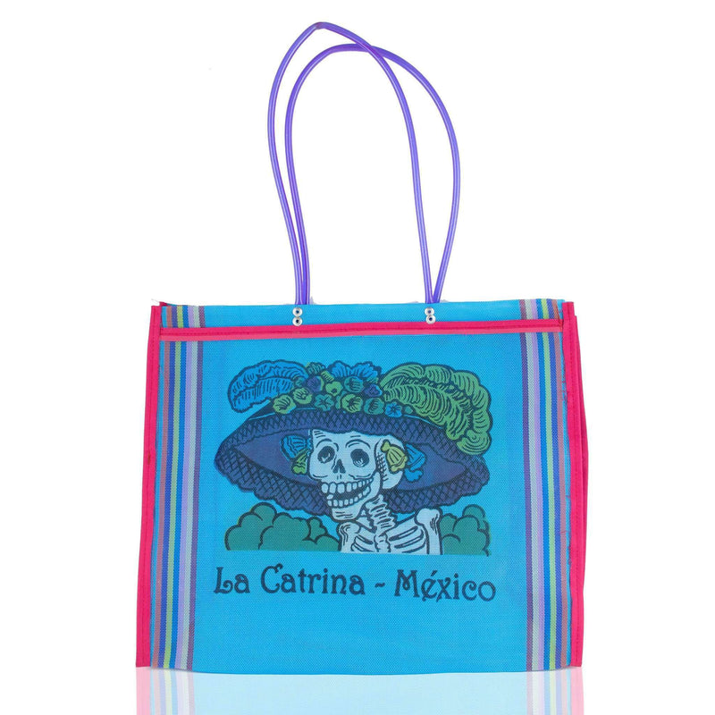 Dia de Muertos Market Bag in Sky Blue - Josephine Alexander Collective