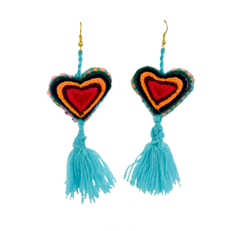 The Love-ly Earrings in Blue Ice- Large