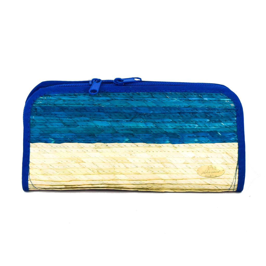 Cancun Straw Wallet in Cielito Lindo - Josephine Alexander Collective